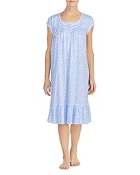 Eileen West Blue Dots Waltz Short Gown Blue White