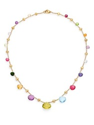 Marco Bicego Paradise Semi Precious Multi Stone And 18K Yellow Gold Necklace