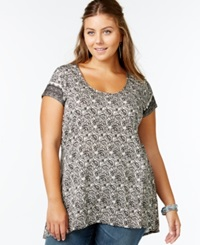 American Rag Plus Size Paisley Print T Shirt Only At Macy's Oxford Tan