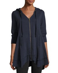 Xcvi Mercantile Deep V Cotton Jacket Navy