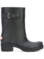 Hunter Rain Boots Women Cotton Rubber 8 Black