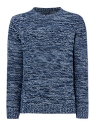 Criminal Rupert Spacedye Crew Neck Pull Over Jump Blue