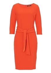 Betty Barclay Textured Jersey Dress Orange