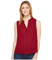 Lucky Brand Pleated Tank Top Wild Currant Women's Sleeveless Red