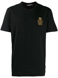 Dolce And Gabbana Embroidered Motif T Shirt Black