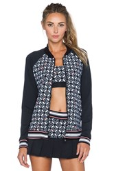 Trina Turk Bal Harbour Bomber Jacket Black
