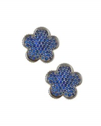 Lagos 18Mm Sapphire Flower Stud Earrings Blue