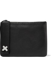 Alexander Wang Crux Pouch Textured Leather Clutch Black