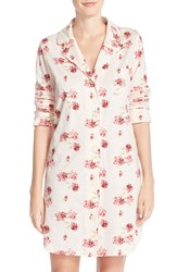 Lauren Ralph Lauren 'Bingham' Cotton Sleep Shirt Janey Floral Textured Ground