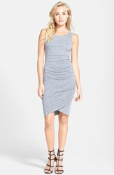 Leith Women's Ruched Body Con Tank Dress Grey Cloudy Hthr