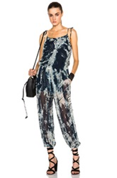 Raquel Allegra Jumpsuit In Blue Ombre And Tie Dye