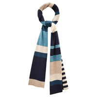Viyella Colour Block Knit Scarf Navy