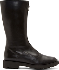 Robert Clergerie Black Leather Flat Boots