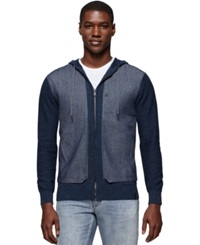Calvin Klein Jeans Heathered Denim Utility Jacket Midnight