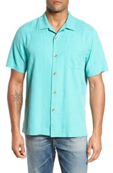 f2bc45b51 Tommy Bahama Men's Big And Tall St Lucia Fronds Silk Camp Shirt Castaway  Green