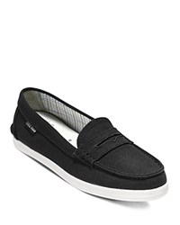 Cole Haan Pinch Canvas Loafers Black