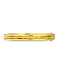 19K Gold Thin Braided Bangle Bracelet Elizabeth Locke