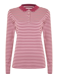 Lands' End Striped Pima Polo Lilac