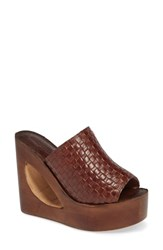Jeffrey Campbell Comeback Wedge Cognac Leather