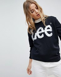 Lee Metallic Logo Sweatshirt Black