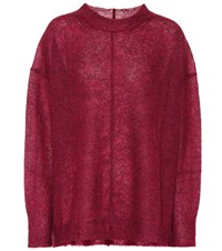 Etoile Isabel Marant Chestery Mohair And Wool Blend Sweater Red