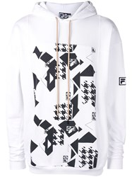 Liam Hodges Front Print Hoodie White