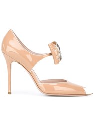 Aperlai Bow Detail Pumps Nude Neutrals