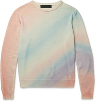 The Elder Statesman Degrade Cashmere Sweater Multi