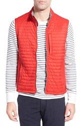 Men's Relwen 'Schooner' Quilted Nylon Vest Bright Red