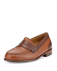Cole Haan Fairmont Penny Ii Two Tone Leather Loafer British Tan Papaya