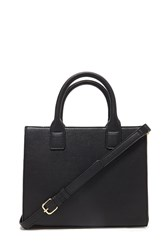 Forever 21 Faux Leather Satchel Black