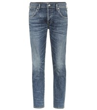 Citizens Of Humanity Elsa Mid Rise Cropped Slim Jeans Blue