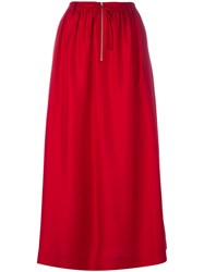 Joseph Maxi Skirt Women Silk 36 Red