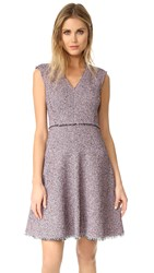 Rebecca Taylor Sleeveless Tweed Dress Pink Navy