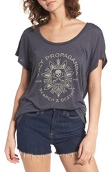 Obey Women's Think And Create Graphic Tee Dark Navy