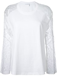 Chloe Lace Sleeve Top White