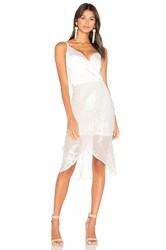 Airlie Leonie One Shoulder Dress White