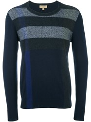 Burberry Crew Neck Jumper Blue