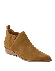 Kendall Kylie Violet Leather Slip On Ankle Boots Natural