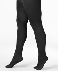 Berkshire Plus Size Easy On Ribbed Tights Black
