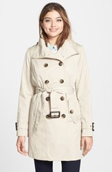 Women's London Fog Double Breasted Trench Coat With Detachable Liner Online Only