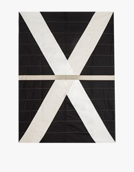 Louise Gray Throw Quilt No. 1 Black Ivory