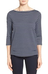 Women's Nordstrom Collection 'Bianca' Stripe Jersey Boatneck Top