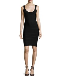 Herve Leger Scoop Neck Bandage Dress Black