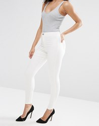 Asos Rivington Denim High Waist Jeggings In Off White Off White