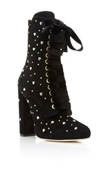 Elie Saab Lace Up Boot With Studs Black
