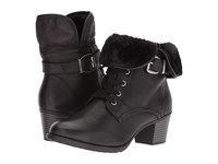 Spring Step Liona Black Women's Lace Up Boots
