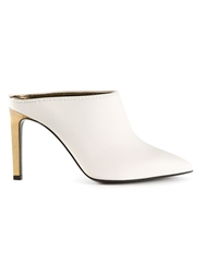 Lanvin Golden Heel Mules White