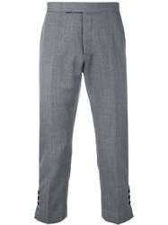 Thom Browne Slim Fit Mid Rise Trouser Grey