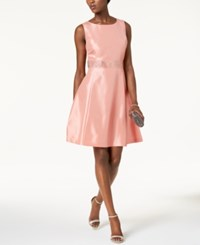 Nine West Embellished Fit And Flare Dress Pink